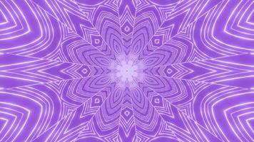 lila blommig kalejdoskopdesign för illustration 3d för bakgrund eller tapet foto