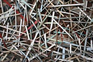 bitar av trä foto