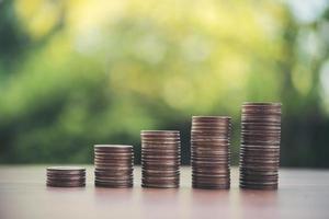 stack av myntpengar