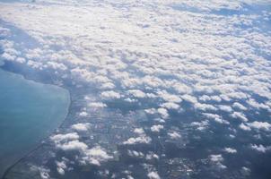 Flygfoto över moln foto