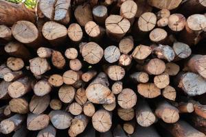 hög med trä