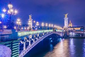Pont alexandre III Bridge i Paris, Frankrike
