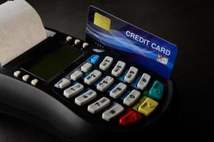 kreditkortsmaskin foto