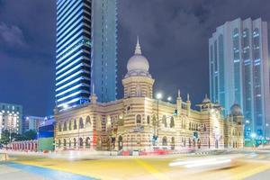 museum i Kuala Lumpur på natten foto