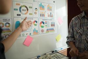 närbild av affärsmän som arbetar tillsammans