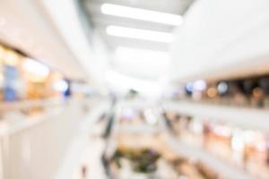 abstrakt suddig köpcentruminredning foto