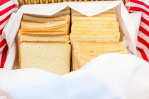 rostat bröd i en korg