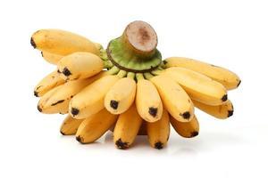 massa bananer på vit bakgrund foto