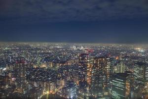 Nattlandskap utsikt över en stad foto
