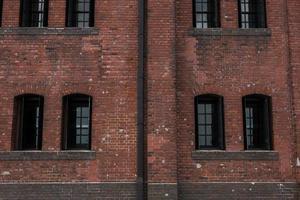 rustik tegelbyggnad foto
