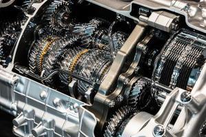detaljerad vy av en motor