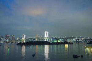 regnbågsbro i odaiba, tokyo, japan