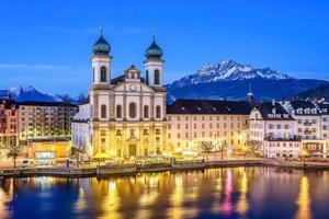jesuit kyrka i luzern, schweiz