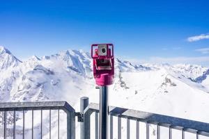 myntdriven kikare i Murren, Schweiz foto