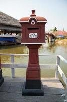 gammal postlåda i bangkok, thailand foto