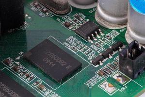 närbild för elektronisk krets foto