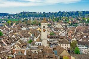 panoramautsikt över den gamla staden Schaffhausen, Schweiz