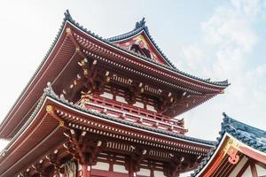 sensoji-tempel i asakusa-området, tokyo, japan foto