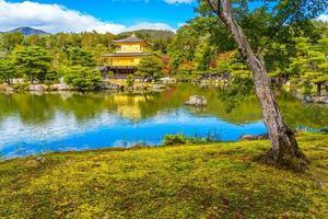 kinkakuji-templet eller den gyllene paviljongen i Kyoto, Japan