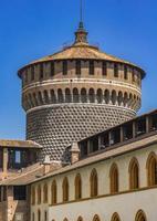 Sforza slott i Milano, Italien