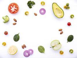 ram med färska ingredienser foto
