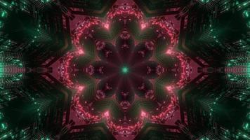 färgglada 3d kalejdoskop blomma design illustration för bakgrund eller konsistens foto