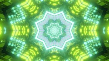 färgglada 3d kalejdoskop blommig illustration för bakgrund eller konsistens foto