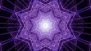 blå och lila 3d kalejdoskop illustration för bakgrund eller struktur foto