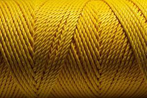 närbild makro skott av en gul tråd. foto