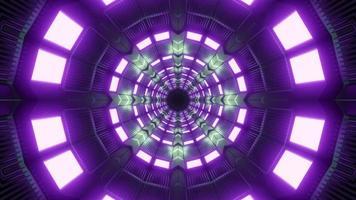 Illustration för design för kalejdoskoptunnel 3d för bakgrund eller textur foto