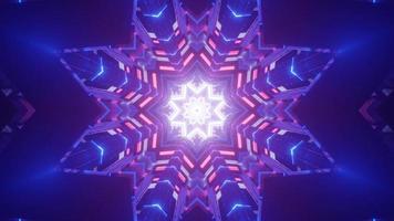 färgglad 3d kalejdoskopdesignillustration för bakgrund eller konsistens foto