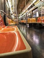 New York City tunnelbana interiör foto