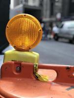 varningslampa för konstruktion foto