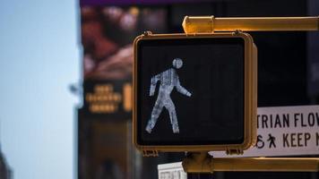 korsningsljus i New York City foto