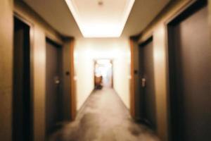 abstrakt och defokuserad hotellinredning foto