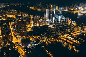 stadsbilden i Hong Kong, Kina
