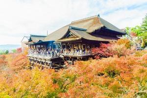kiyomizu-dera-templet i Kyoto, Japan foto