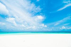 vacker vit strand foto