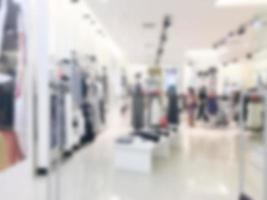 abstrakt suddigt köpcentrum foto