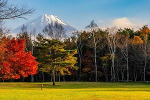 mt. fuji i japan på hösten