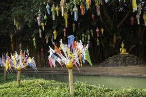thailändskt buddhistiskt offentligt tempel i Chiang Mai