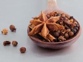 kryddor i en sked foto