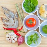 tom yum ingredienser foto