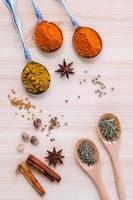 diverse torkade kryddor foto