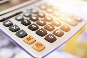 miniräknare för finans koncept foto