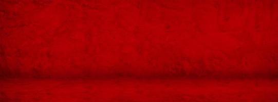 röd grunge cement banner foto