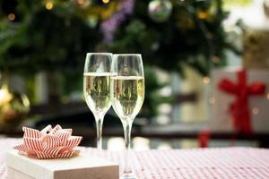 flöjt av champagne foto