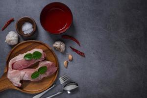 färskt rått kött på en tallrik