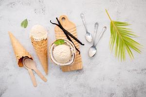 glass av vaniljböna foto