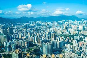 stadsbilden i Hong Kong City, Kina